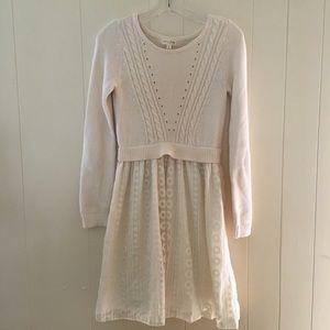 MAISON JULES ivory sweater dress